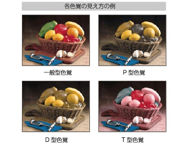 色覚型による見え方の違い