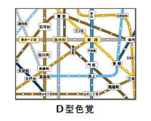 路線図 D型色覚