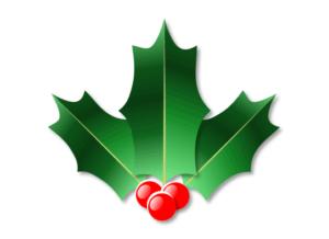 完成したクリスマスホーリー