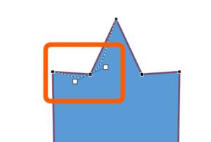 頂点の編集:頂点を中心にスムージング