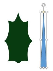 二等辺三角形で葉脈